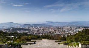 Opinión de la ciudad de Braga de Sameiro fotos de archivo