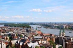 Opinión de la ciudad de Budapest Foto de archivo libre de regalías