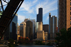 Opinión de la ciudad de Chicago Imagen de archivo libre de regalías
