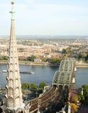 Opinión de la ciudad de Colonia Imagen de archivo libre de regalías