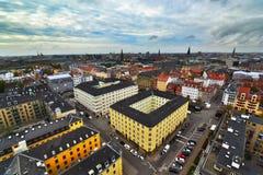 Opinión de la ciudad de Copenhague Imágenes de archivo libres de regalías