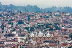 Opinión de la ciudad de Cuenca Ecuador imágenes de archivo libres de regalías