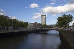Opinión de la ciudad de Dublín imagenes de archivo