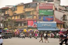 Opinión de la ciudad de Hanoi Vietnam Fotos de archivo libres de regalías