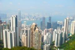 Opinión de la ciudad de Hong-Kong Imagenes de archivo