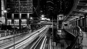 Opinión de la ciudad de Hong Kong en blanco y negro Fotos de archivo
