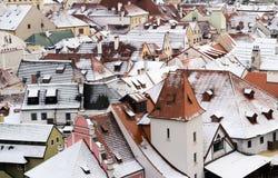 Opinión de la ciudad de Krumlov, República Checa foto de archivo libre de regalías