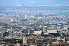 Opinión de la ciudad de Kyoto - estación de Kyoto del oeste - Kyoto Japón Fotos de archivo