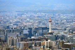 Opinión de la ciudad de Kyoto - estación de Kyoto/torre de Kyoto - Kyoto Japón Imagenes de archivo