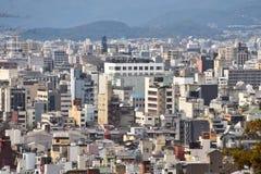 Opinión de la ciudad de Kyoto - Kawaramachi Sanjo - Kyoto Japón Foto de archivo