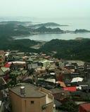 Opinión de la ciudad de la montaña Imagen de archivo libre de regalías