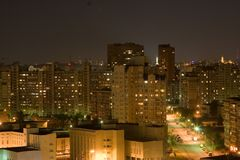 Opinión de la ciudad de la noche Imagen de archivo