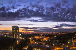 Opinión de la ciudad de la noche Imagen de archivo libre de regalías