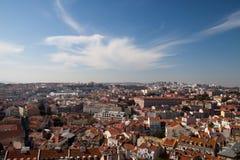 Opinión de la ciudad de Lisboa imágenes de archivo libres de regalías