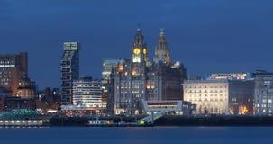 Opinión de la ciudad de Liverpool Imagen de archivo