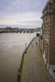 Opinión de la ciudad de Maastricht Fotos de archivo libres de regalías