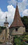 Opinión de la ciudad de Marbach foto de archivo