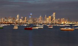 Opinión de la ciudad de Melbourne Foto de archivo libre de regalías
