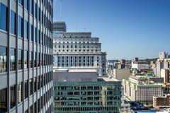 Opinión de la ciudad de Montreal Foto de archivo libre de regalías