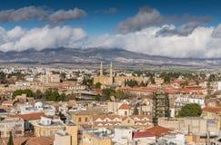 Opinión de la ciudad de Nicosia foto de archivo