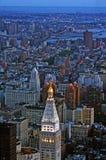 Opinión de la ciudad de NY Fotografía de archivo