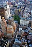 Opinión de la ciudad de NY Imágenes de archivo libres de regalías