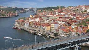 Opinión de la ciudad de Oporto, Portugal almacen de video