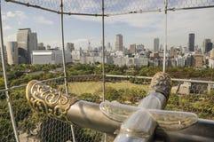 Opinión de la ciudad de Osaka Imagen de archivo libre de regalías