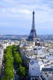 Opinión de la ciudad de París Fotografía de archivo libre de regalías