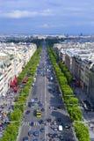 Opinión de la ciudad de París Fotos de archivo libres de regalías