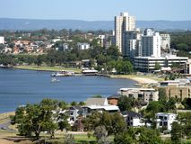Opinión de la ciudad de Perth fotografía de archivo libre de regalías