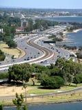 Opinión de la ciudad de Perth foto de archivo libre de regalías