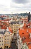 Opinión de la ciudad de Praga Imágenes de archivo libres de regalías