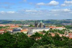 Opinión de la ciudad de Praga Foto de archivo libre de regalías