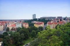 Opinión de la ciudad de Praga de Vysehrad Fotos de archivo