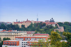 Opinión de la ciudad de Praga de Vysehrad Fotografía de archivo