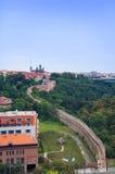 Opinión de la ciudad de Praga de Vysehrad Imagen de archivo libre de regalías