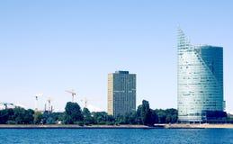 Opinión de la ciudad de Riga Fotografía de archivo