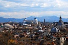 Opinión de la ciudad de Roma Fotos de archivo libres de regalías