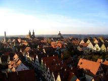 Opinión de la ciudad de Rothenburg Foto de archivo libre de regalías