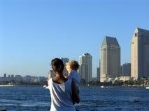 Opinión de la ciudad de San Diego Fotografía de archivo libre de regalías