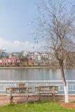 Opinión de la ciudad de Sapa fotografía de archivo libre de regalías