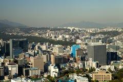 Opinión de la ciudad de Seul Imagen de archivo libre de regalías