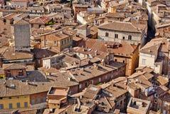 Opinión de la ciudad de Siena, Toscana, Italia Fotos de archivo
