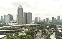 Opinión de la ciudad de Singapur Imágenes de archivo libres de regalías