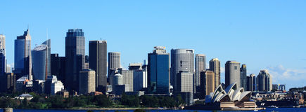 Opinión de la ciudad de Sydney Imágenes de archivo libres de regalías