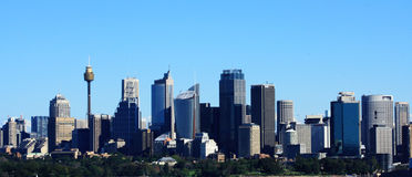 Opinión de la ciudad de Sydney Fotografía de archivo libre de regalías