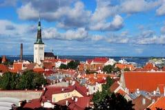 Opinión de la ciudad de Tallin Fotos de archivo libres de regalías