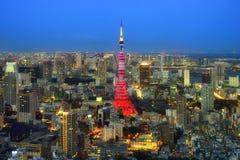 Opinión de la ciudad de Tokio Fotos de archivo libres de regalías