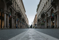 Opinión de la ciudad de Turín Italia de la tierra Imágenes de archivo libres de regalías